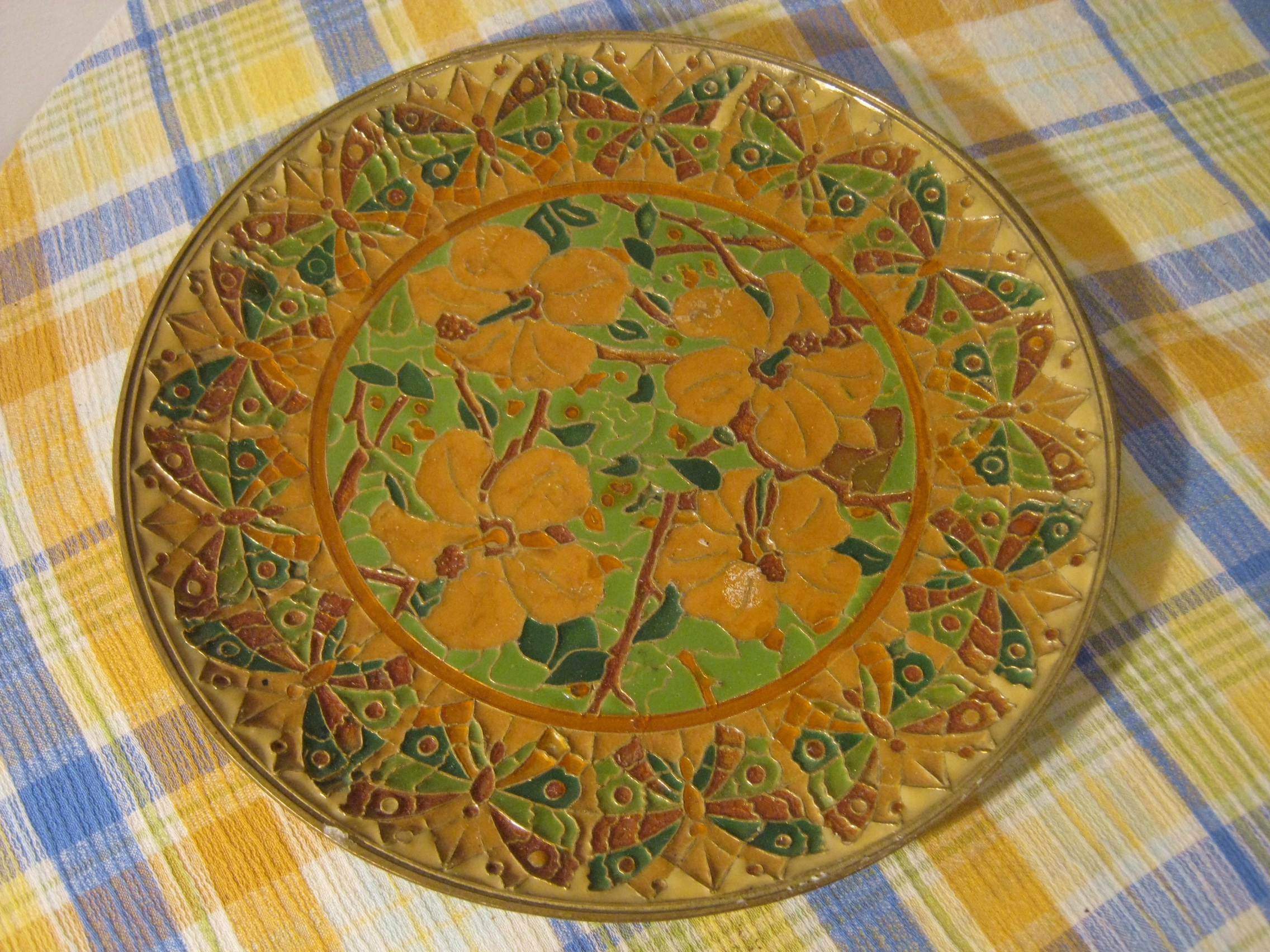 Decorative plate – made in Greece – G. Halkides – Things I find in ...