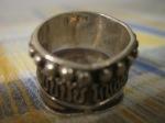 Backside of sterling silver ring