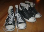"""""""Used Converse Chuck Taylor All Stars, 2 pair size 9 men 11 women"""""""