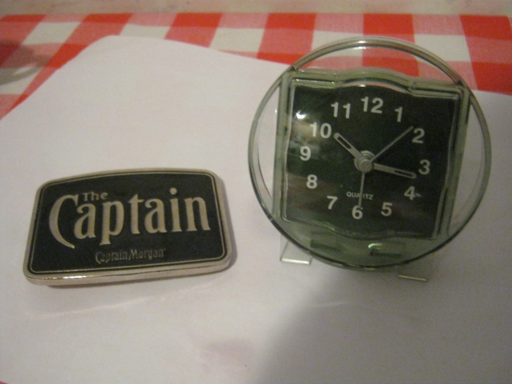captain morgan buckle ikea clock