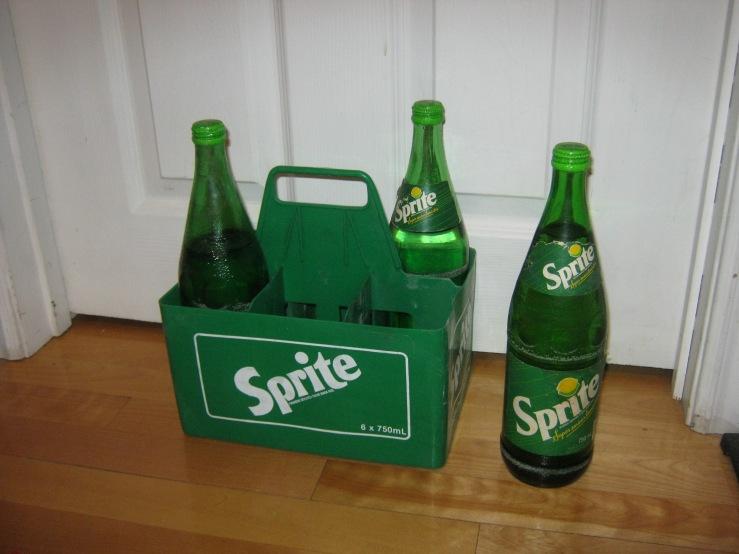 vintage sprite bottles full