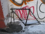 Bike frame - brought to bike coop for parts