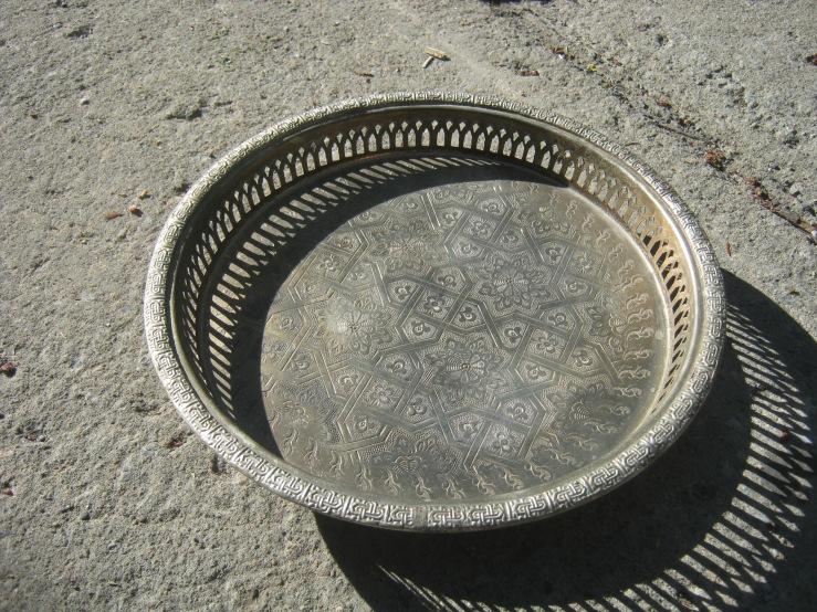 arabic silver tray?