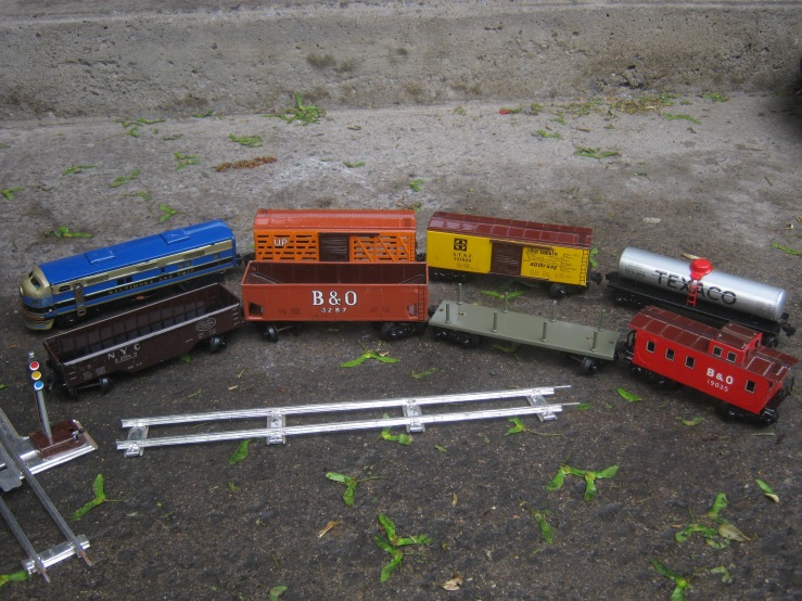 old model train set