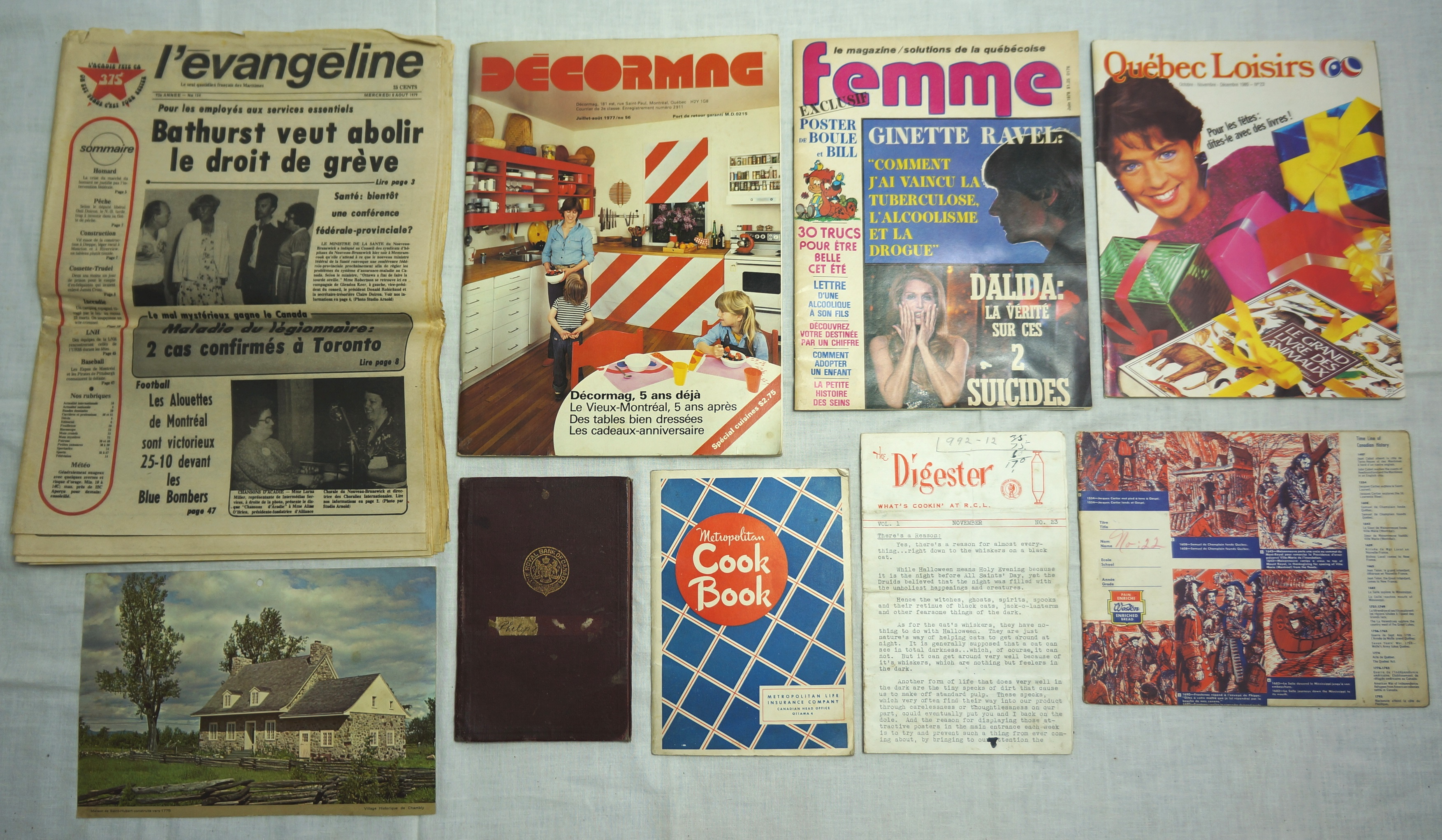 Vintage Page 5 Things I Find In The Garbage 1949 Parker 51 Fountain Pen Diagram And Gift Set Photo Print It Stopped Printing 1982 But Apparently Was Once Main Newspaper For Acadians Eastern Canada
